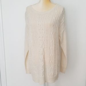 Laura Scott cable Knit sweater size M
